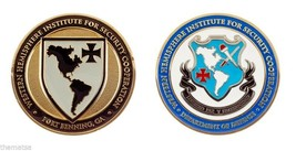 "ARMY FORT BENNING SECURITY COOPERATION WHINSEC 1.75"" CHALLENGE COIN - $16.24"