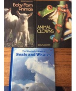 Set of 3 National Geographic Society Animal clown baby farm animal seals... - $8.97