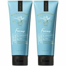2 Bath & Body Works Aromatherapy Focus Eucalyptus Tea Body Cream Lotion ... - $24.00