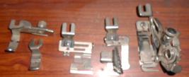 5 Greist Rotary Feet, Ruffler,Zipper,Edge Stitcher,Narrow Hemmer & Shirr... - $15.00