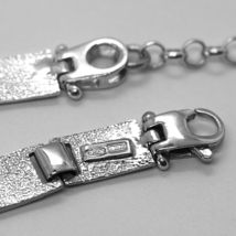 Armband Silber 925, Flags Seekarten Glasierte Fliesen, Lang 18 cm, Dicke 6 MM image 4