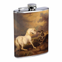 Horse Snake Em1 Flask 8oz Stainless Steel Hip Drinking Whiskey - $13.81