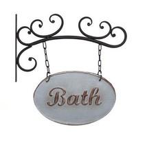 Wall Mounted Metal Bath Sign - $48.66