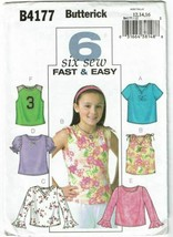 Butterick Sewing Pattern 4177 Girls Top Size 12 14 16 - $8.09