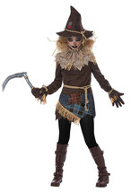 California Costume Creepy Scarecrow Field Tween Girls Halloween Costume ... - £21.50 GBP