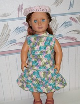 American Girl Crocheted Dress and Headband, Handmade, 18 Inch Doll - $22.00