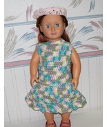 American Girl Crocheted Dress and Headband, Handmade, 18 Inch Doll - $25.00