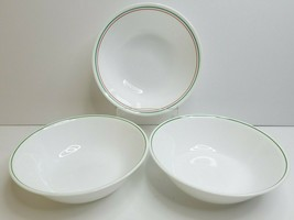 "3 Corelle Winter Holly Days 8 1/2"" Corelle Christmas Green Round Vegetable Bowls - $39.47"