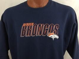 Denver Broncos Blue Sweatshirt XXL XX-Large Embroidered Champion Crew Neck - $38.19