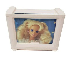 Vintage 1994 Mattel Barbie Dream House Furniture Pink Plastic Television Tv - $23.38