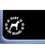 "Baby on Board Decker Terrier L557 6"" Sticker Rat Terrier dog decal - $4.99"