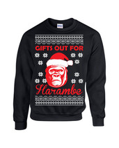 Gifts Out for Harambe Christmas Ugly Sweater Design Unsex Crew Sweatshirt 1553 - $19.75+
