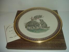 Lenox Boehm Raccoons Woodland Wildlife Plate 1973 in box - $24.99