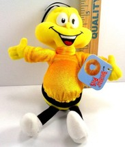 """Honey Nut Cheerios Cereal Bee Mascot Soft Plush Beanie Stuffed Doll Toy 8""""  - $5.93"""