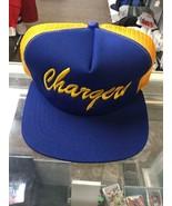 NWOT Vintage San Diego Chargers New Era Mesh Script Trucker Snapback Hat... - $98.99