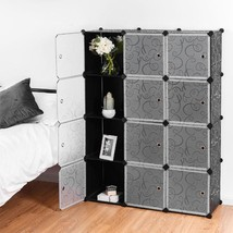 DIY 12 Cube Portable Closet Storage Organizer - £74.85 GBP