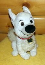 "Disney BOLT Plush 12"" White Shepherd Puppy Dog with Silver Streak Collar... - $14.49"