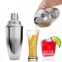Cocktail Shaker Stainless Steel Mixer Drink Set Bar Bartender Martini To... - $13.55+