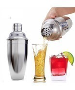 Cocktail Shaker Stainless Steel Mixer Drink Set Bar Bartender Martini To... - £10.50 GBP+