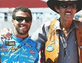 2X AUTOGRAPHED Darrell Wallace Jr. & Richard Petty 2017 Monster Cup Repl... - $144.93