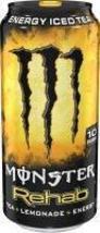 Monster Energy Rehab Tea 15.5ounce cans (Lemonade, 12 Cans) - $29.69