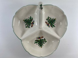 """Nikko Japan Christmas """"Happy Holidays""""  Divided Handled Condiment Candy ... - $29.69"""