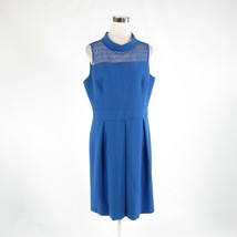 Blue ANNE KLEIN stretch sleeveless A-line dress 14 NWT $119.00 - $39.99