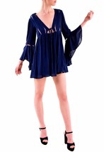 Free People NBW Long Sleeve Romeo Mini Dress Navy Combo Size XS RRP £128... - $110.30