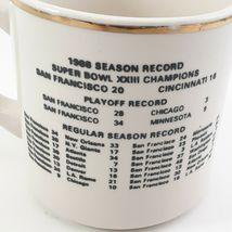 1988 49ers SUPER BOWL XXIII CHAMPIONS COMMEMORATIVE SF Ceramic Mug With Schedule image 8
