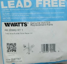 Watts Valve Rubber Parts Repair Kit One Inch Lead Free 0887787 image 2