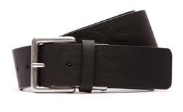 BRAND NEW LACOSTE MEN'S EMBOSSED LOGO PREMIUM CLASSIC LEATHER BELT BLACK RC1035