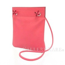HERMES SAC Aline Mini Lambskin Leather Rose Azalee Shoulder Bag #D Authe... - $1,977.25