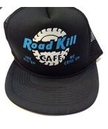 Road Kill Cafe You Kill Em We Grille Em Trucker Snapback Hat Mesh Back R... - $18.78