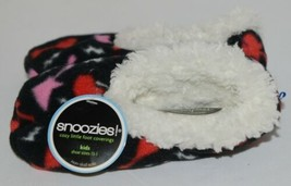 Snoozies 200199P Foot Coverings Guitars Black White Pink Red Kids 13 And 1 image 2