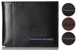 Tommy Hilfiger Men's Premium Leather Credit Card ID Wallet Passcase 31TL22X063