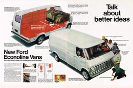 Vintage 1968 2-Page Magazine Ad Ford Econoline Vans Make Other Vans Obsolete - $5.93