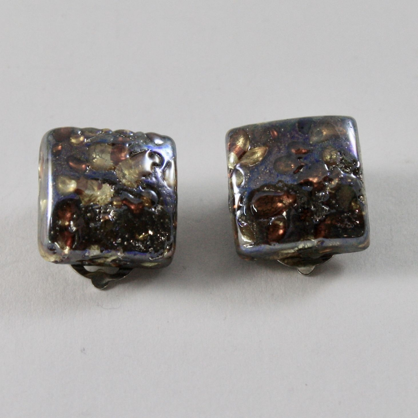 ANTICA MURRINA VENEZIA COLLECTION EARRINGS WITH  MURANO GLASS SQUARES