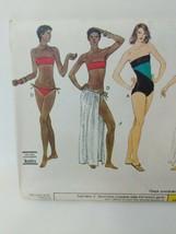 Vogue Sewing Pattern 7702 Bikini One Piece Bathing Swim Suit Size 14 VTG 80s - $14.84