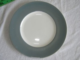 Vintage Wedgwood WIDE Grey Gray Band Bone China Luncheon Plate 14768 - $10.08