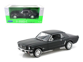 1964 1/2 Ford Mustang Hard Top Black 1/24 Diecast Car Model by Welly - $30.46