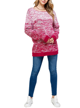 Women's Oversized Long Sleeve Colorful Chunky Knitted Casual Pullover Sweater image 8