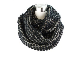 Two- Tone Big Knit Infinity Scarf - $27.76 CAD