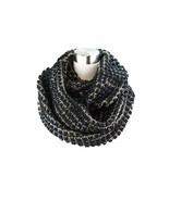Two- Tone Big Knit Infinity Scarf - $21.00