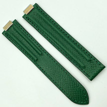 Cartier Authentic 18mm Green Lizard Leather Strap for Deployant Clasp - $349.00