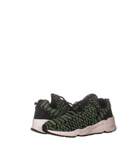 Ash 1067 Lace Up Low Top Sneakers, Green Black 069, Green Black, 41 EU - $52.79