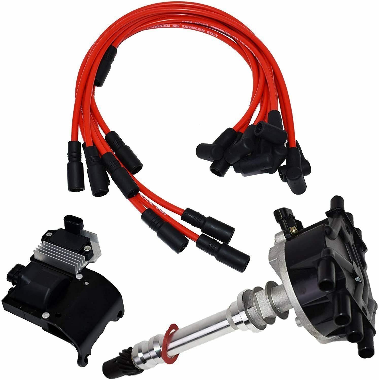 95-07 V6 Chevy GMC VORTEC Distributor Plug Wires Ignition Coil & Module 4.3L 262