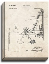 Drum Beating Mechanism Patent Print Old Look on Canvas - $39.95+