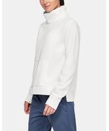 Under Armour Women's Synthetic Fleece Mock Mirage Sweatshirt, White NWT XS - $11.90