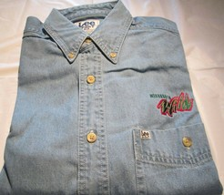 Minnesota Wild Long Sleeve Denim Shirt Medium Pocket NHL Hockey Lee Sport  - $16.99