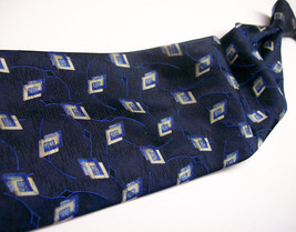 ROBERT TALBOTT  Blue GEO Abstract  Handmade  Mens 100 SILK Necktie 413 6 - $19.99